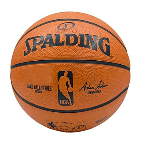 Мяч баскетбольный PU №7 SPALDING NBA GAME REPLICA OUTDOOR (PU, бутил, оранжевый)