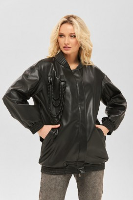 Демисезонная женская куртка ТМ  MILA NOVA черная