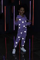 Стильный детский костюм светоотражающий Микки Маус от производителя 104-158р