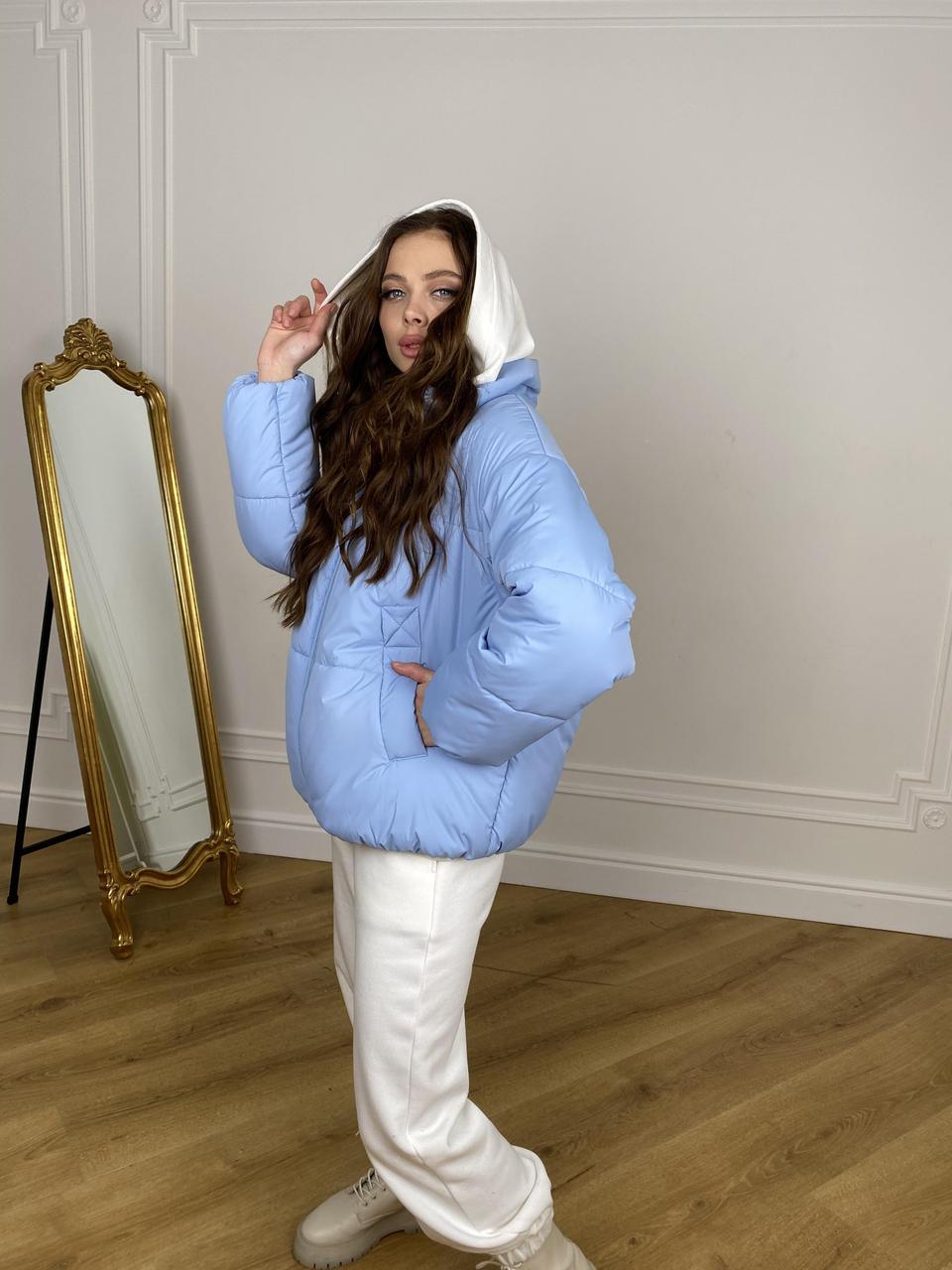 Стильна куртка oversize  Муд 10509