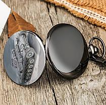 Карманные мужские часы на цепочке танк, фото 2