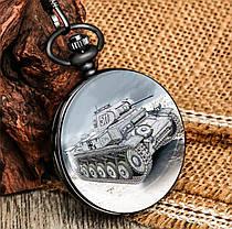 Карманные мужские часы на цепочке танк, фото 3