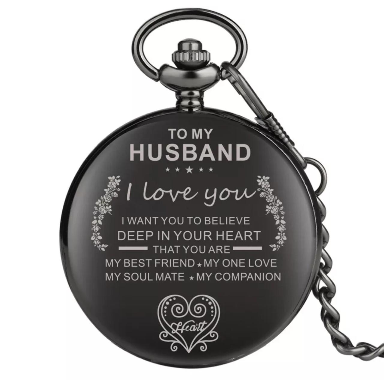 Карманные мужские часы на цепочке любимому мужу