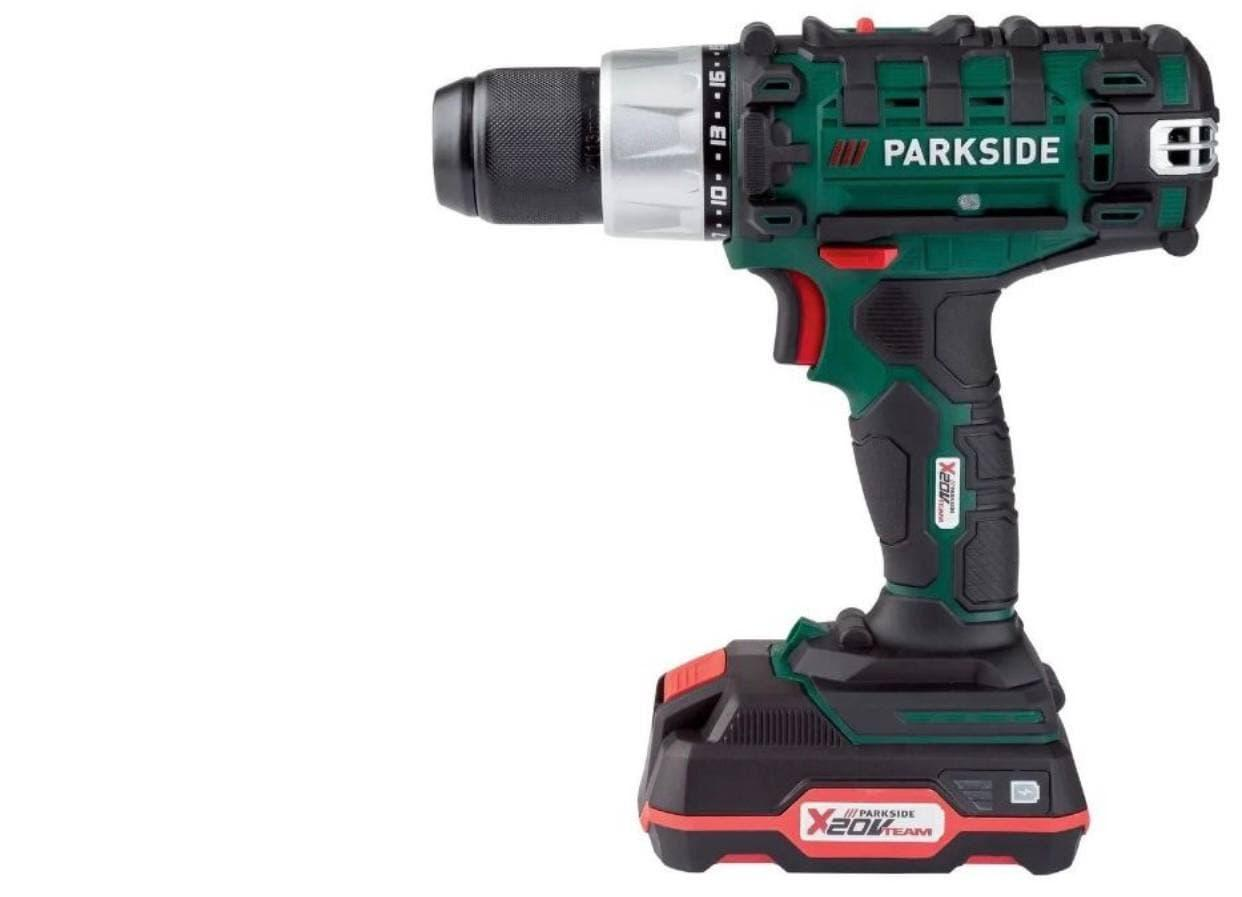 Аккумуляторный шуруповерт PARKSIDE PABS 20-Li E6 + 8 бит и 8 сверл HSS