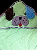 Детский махровый уголок после купания зеленый