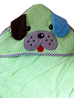 Детский махровый уголок после купания зеленый, фото 1
