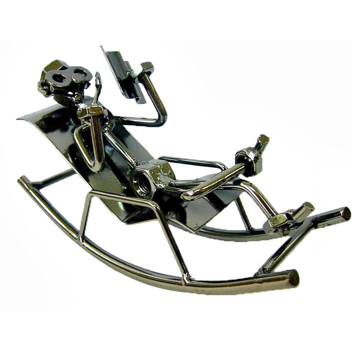 Статуэтка металлическая техно-арт Читатель