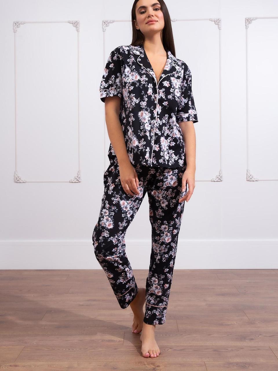 Стильна жіноча піжама на гудзиках  HAYS 65323 великих розмірів