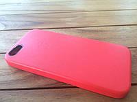 Кожаный чехол для iPhone 5/5s red с логотипом (copy)