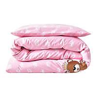 Набор детского постельного белья в кроватку с пледом