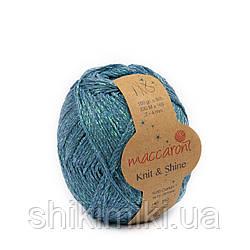 Трикотажний шнур з люрексом Knit & Shine, колір Бірюзовий