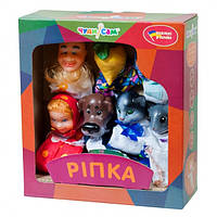 """Кукольный театр для детей. Сказка """"Репка"""". Кукла-рукавичка. Развивает воображение. Насыщенные цвета. арт. 152"""