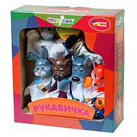 """Кукольный театр для детей """"Рукавичка"""". Кукла-рукавичка. 7 персонажей сказки. Развивает воображение. арт. 153"""