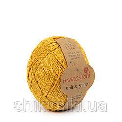 Трикотажний шнур з люрексом Knit & Shine, колір Гірчичний