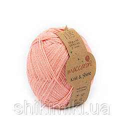 Трикотажний шнур з люрексом Knit & Shine, колір Лососевий