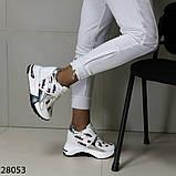 Жіночі кросівки білого кольору еко-шкіра на платформі , фото 3