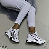 Жіночі кросівки білого кольору еко-шкіра на платформі , фото 10