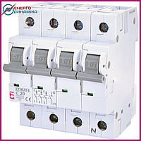 Авт. выключатель ETIMAT 6  3p+N C 20А (6 kA), фото 1