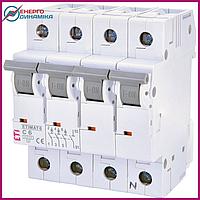 Авт. выключатель ETIMAT 6  3p+N C 6А (6 kA), фото 1