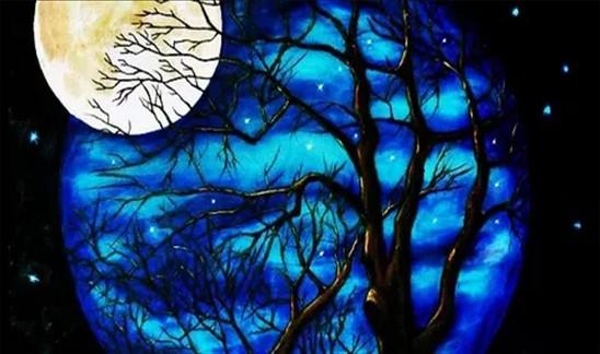 Алмазная мозаика Желтая луна, 30*40см, без рамки, в кор. 39*8*5см