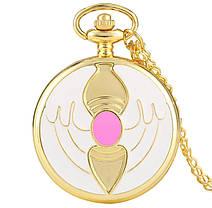 Кишеньковий годинник на ланцюжку Сакура відмінний подарунок, фото 2