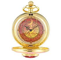 Кишеньковий годинник на ланцюжку Сакура відмінний подарунок, фото 3