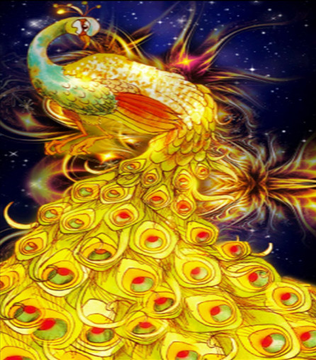 Алмазная мозаика Жар-птица, 30*40см, без рамки, в коробке 39*8*5см код: H8090