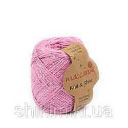 Трикотажний шнур з люрексом Knit & Shine, колір Рожевий фламінго
