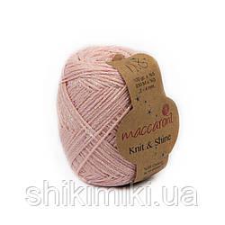 Трикотажний шнур з люрексом Knit & Shine, колір Рожева пудра