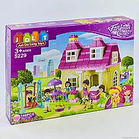 """Конструктор JDLT 5229  """"Модный дом"""", 146 деталей, 5 фигурок, в коробке"""