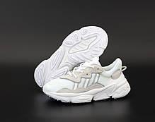 Мужские кроссовки Adidas Ozweego. Белые. ТОП Реплика ААА класса., фото 3