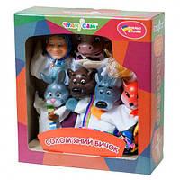 """Кукольный театр для детей """"Соломенный бычок"""". Кукла-Рукавичка. 7 персонажей сказки. Яркие цвета. арт. В 162"""