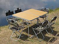 """Купити складаний стіл для пікніка та розкладні стільці зі спинкою """"Кемпінг О2Х+6"""", фото 1"""