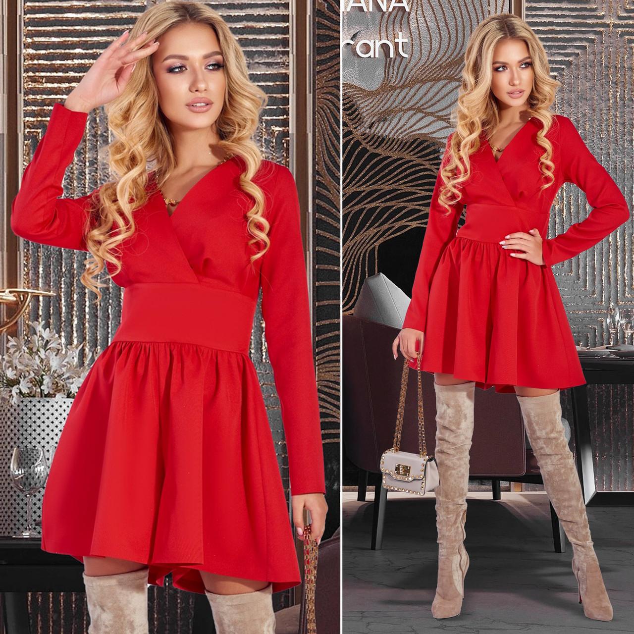 Красное платье-шорты (Код MF-234)