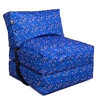 Безкаркасне крісло розкладне ліжко Принт TIA-SPORT