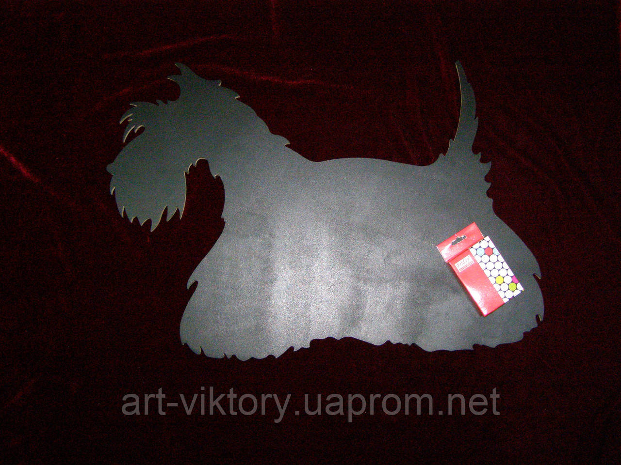 Меловая доска Собака (40 х 55), декор