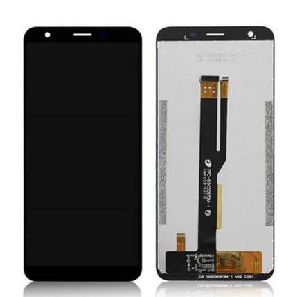 Дисплей (екран) для Ulefone S9 Pro з сенсором (тачскріном) чорний Оригінал, фото 2