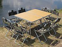 """Складаний стіл зі стільцями для пікніка, набір меблів для відпочинку на природі """"Кемпінг О2Х+8"""", фото 1"""