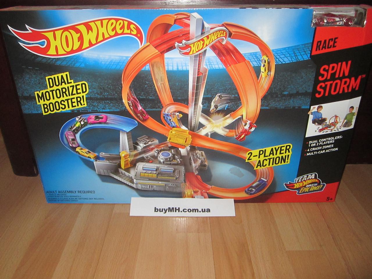 Трек Хот Вилс Шторм Головокружительные виражи Hot Wheels Spin Storm, фото 1
