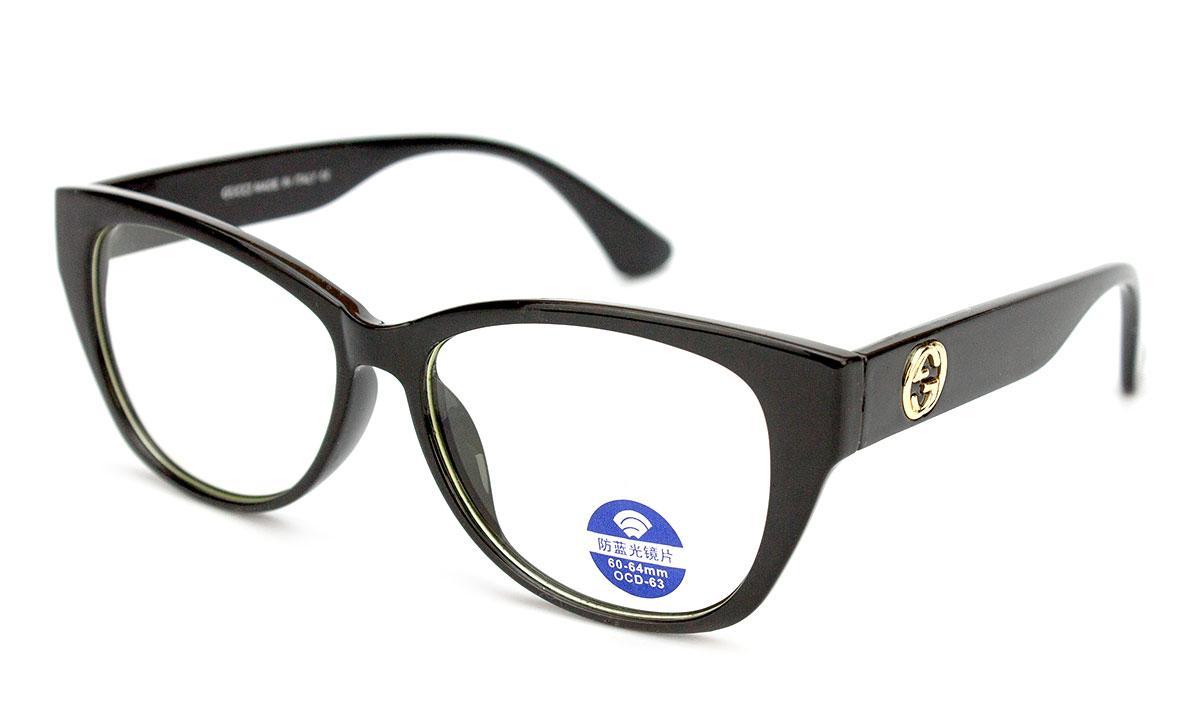 Очки для компьютера, очки компьютерные, защитные очки для работы за компьютером, пластик, женские, в футляре