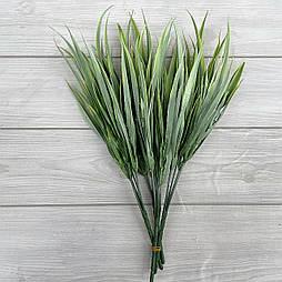 Декоративная трава. Искусственная осока зеленая cветлая 30 см пластик (5 шт в уп)