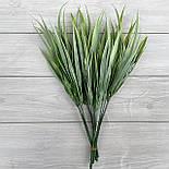 Декоративная трава. Искусственная осока зеленая cветлая 30 см пластик (5 шт в уп), фото 3