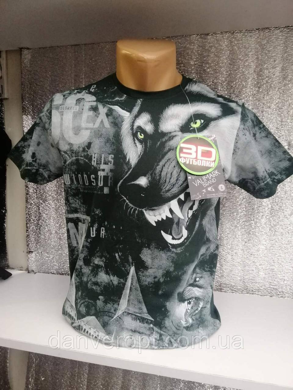 Футболка чоловіча модна стильна 3D принтом розмір S-XL купити оптом зі складу 7км Одеса