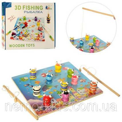 Деревянная игрушка. Рыбалка. Развивающая игрушка для малышей