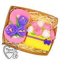 Мило набір 8 березня, вісімка, букет півоній, подарунок жінці, ручна робота