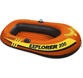 Полутораместная надувная лодка Intex Explorer 200, 185х94 см