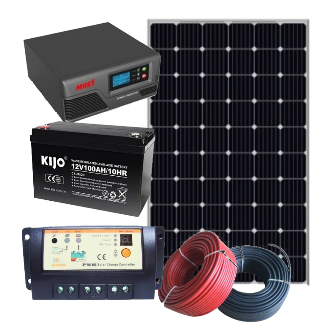 """320 Вт автономная солнечная электростанция """"Пасека-320"""" с инвертором 0,6 кВт и резервом АКБ"""