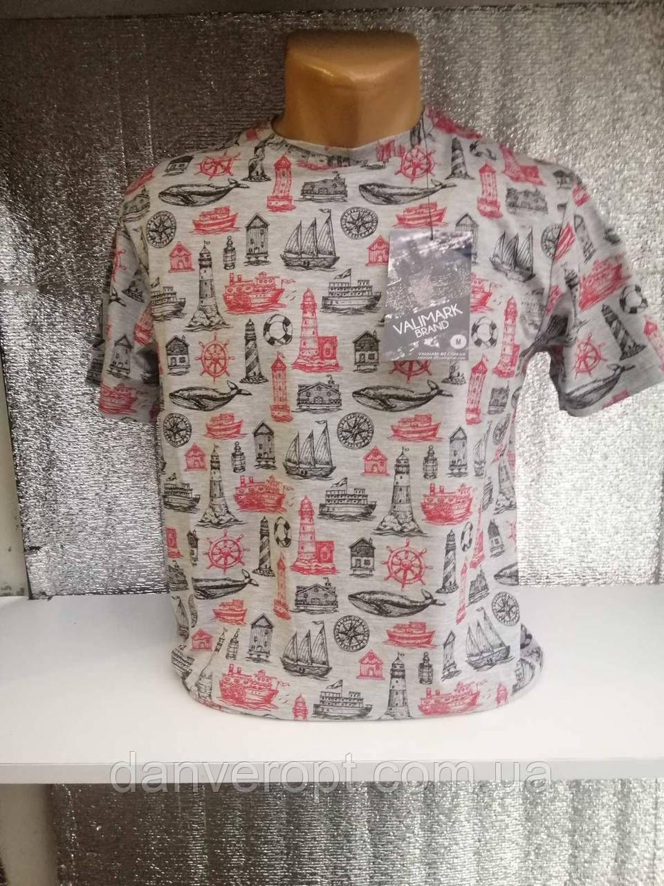 Футболка мужская модная стильная с принтом размер S-XL купить оптом со склада 7км Одесса
