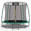 Батут FitToSky 252 см внутренняя сетка лесенка зеленый
