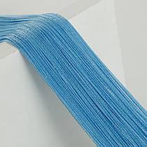 Шторы нити Однотонные, размер 1х2 м Голубой